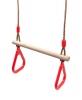 Гимнастические кольца с трапецией Красные